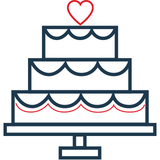 Icon of a wedding cake