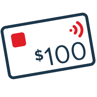 $100 eftpos card icon