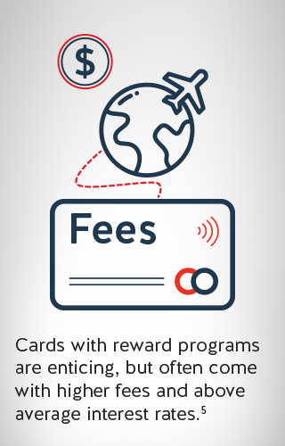 an image illustrating higher fees with reward programs
