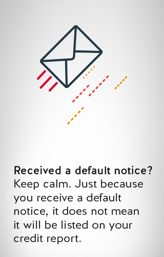 an icon of a default notice letter