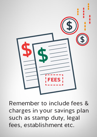 two documents listing fees and charges