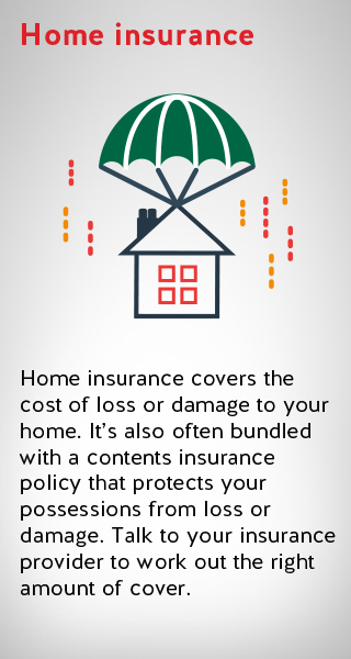 an image illustrating home insurance to cover damage to your home