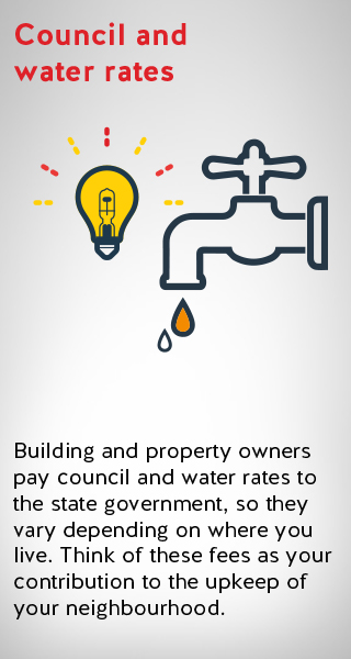 an image illustrating fees related to council and water rates