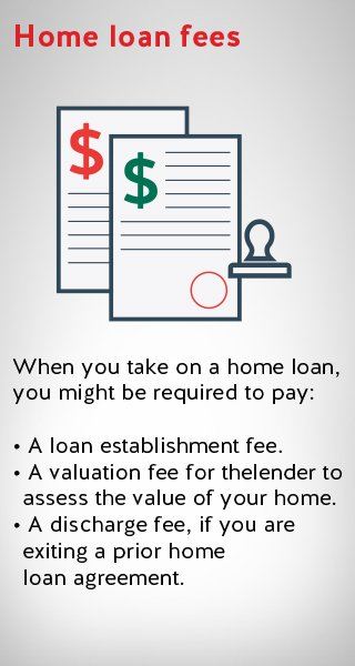 an image illustrating home loan fees including establishment and valuation fee