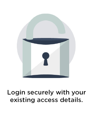 Login securely with your existing access details