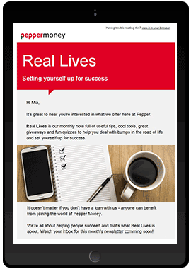 real lives newsletter subscribe